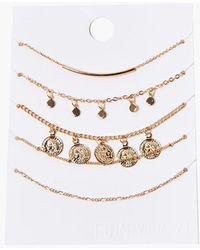 Forever 21 Charm Bracelet Set - Metallic