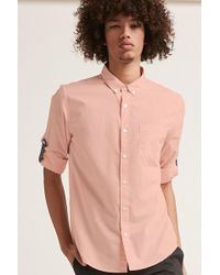 Forever 21 - Button-front Roll-tab Sleeve Shirt - Lyst