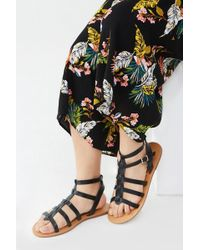 Forever 21 - Faux Leather Gladiator Sandals (wide) , Black - Lyst
