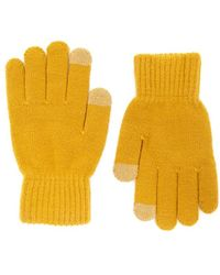 Forever 21 Ribbed Trim Knit Gloves , Mustard - Yellow