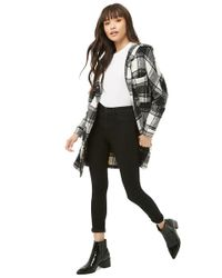 Forever 21 - Women's Check Hooded Jacket - Lyst