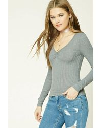 Forever 21 - Ribbed Knit Top - Lyst