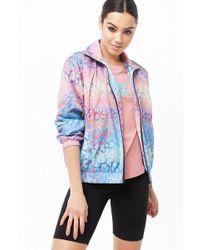 7dc86a19a Women's Watercolor Leopard Print Windbreaker Jacket