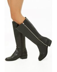Forever 21 - Faux Leather Knee-high Zipper Boots - Lyst