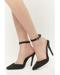 Forever 21 - Faux Suede Pointed-toe Ankle-wrap Heels - Lyst
