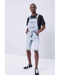 Forever 21 Denim Overall Shorts - Blue