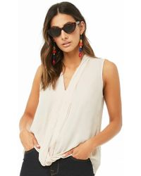 0dadc10bdb5837 Forever 21 - Contemporary Pleated Chiffon Blouse - Lyst