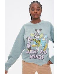 Forever 21 Mickey & Friends Graphic Sweatshirt - Blue