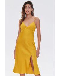 Forever 21 Satin Cami Dress - Yellow