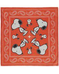 Forever 21 Snoopy Print Bandana , Orange/multi - Red