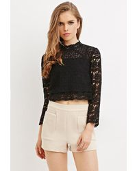 Forever 21 - Women's Texture High-waisted Shorts - Lyst