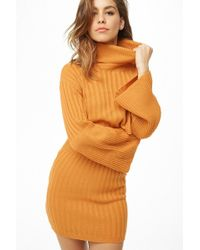 Forever 21 - Ribbed Turtleneck Sweater & Mini Skirt Set - Lyst