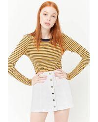 Forever 21 - Button-front Denim Mini Skirt - Lyst