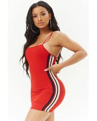 Forever 21 - Striped-trim Bodycon Dress - Lyst