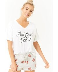 Forever 21 - Pizza Graphic Pj Set - Lyst