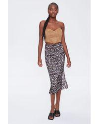 Forever 21 Leopard Print Skirt - Black
