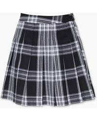 Forever 21 Pleated Plaid Mini Skirt - Black