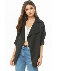 Forever 21 - Notched Collar Jacket - Lyst