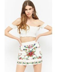 Forever 21 - Selfie Leslie Embroidered Skirt - Lyst