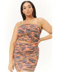 ec39fa6d Forever 21 - Women's Plus Size Camo Bodycon Mini Skirt - Lyst