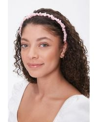 Forever 21 Ruched Satin Headband - Pink
