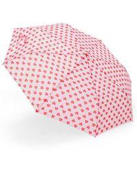 Forever 21 Heart Print Umbrella - Pink