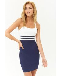 Forever 21 - Contrast Striped Bodycon Cami Dress - Lyst