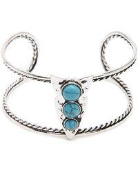 Forever 21 - Faux Stone Cuff Bracelet - Lyst