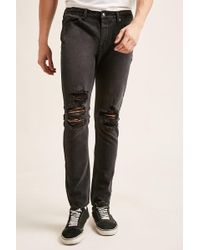 Forever 21 | Distressed Slim-fit Jeans | Lyst
