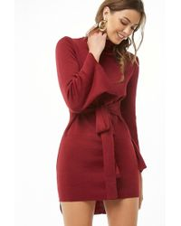 Forever 21 - High-low Bell-sleeve Dress - Lyst