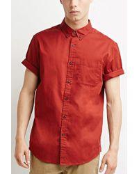 Forever 21 Hemd mit Knopfkragen - Rot
