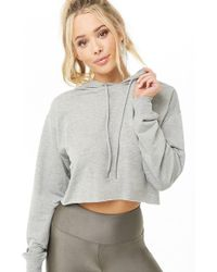 Forever 21 - Women's Active Hooded Crop Top - Lyst