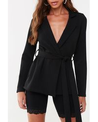 Missguided Open-front Blazer At , Black