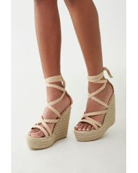 4a6230bea8 Forever 21 - Strappy Espadrille Wedges - Lyst