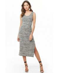 388fa2ecdc7 Forever 21 Mesh Overlay Maxi Dress in Black - Lyst