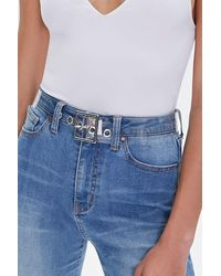 Forever 21 Transparent Hip Belt - Blue