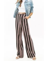 05bf2c50f306a4 Forever 21 - Women's Multicolour Striped Palazzo Trousers - Lyst