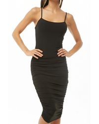 c7437dd575b Forever 21 Classic T-shirt Dress in Black - Lyst