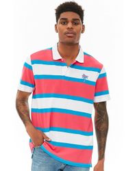 Forever 21 - 's Palm Tree Graphic Striped Polo Shirt - Lyst