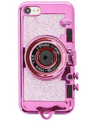 Forever 21 Glittered Camera Case For Iphone 7/8 - Pink