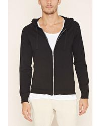 Forever 21 - Contrast-trim Hoodie - Lyst