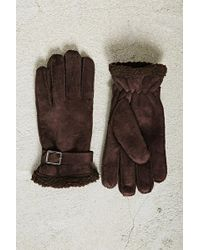 Forever 21 - Men Faux Shearling Gloves - Lyst