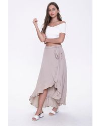 Forever 21 High-low Flounce Skirt - Multicolor