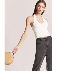 Forever 21 - Ribbed Knit Halter Top - Lyst
