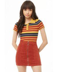 Forever 21 - Women's Zippered Corduroy Mini Skirt - Lyst