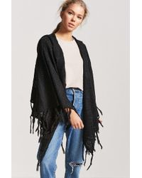 Forever 21 - Hooded Sweater-knit Poncho - Lyst