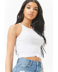 Forever 21 - Ribbed High Neck Top - Lyst