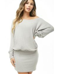 Forever 21 - Brushed Knit Off-the-shoulder Dress - Lyst