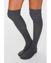 Forever 21 Over-the-knee Socks - Black