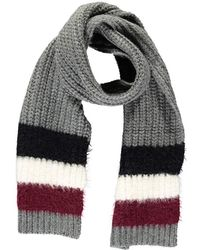 Forever 21 Colorblock Oblong Scarf - Gray